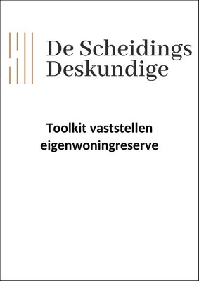 Toolkit vaststellen eigenwoningreserve