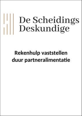 Rekenhulp vaststellen duur partneralimentatie