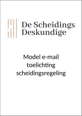 Model e-mail toelichting scheidingsregeling