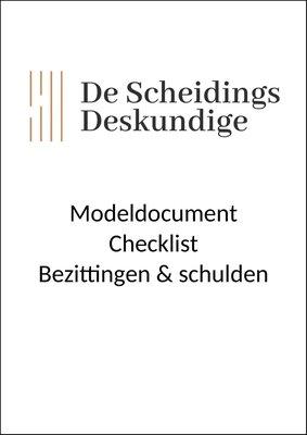 Checklist bezittingen & schulden