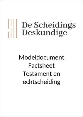 Factsheet Testament en echtscheiding