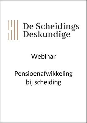 Webinar Pensioenafwikkeling bij scheiding