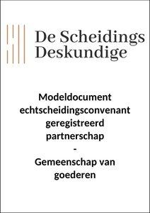Convenant geregistreerd partnerschap - gemeenschap van goederen