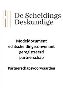 Convenant geregistreerd partnerschap - Partnerschapsvoorwaarden