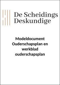 Modeldocument ouderschapsplan (inclusief werkblad)