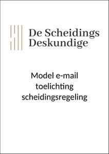 Model e-mail toelichting scheidingsregeling