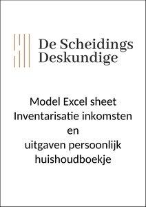Inventarisatie inkomsten uitgaven persoonlijk huishoudboekje
